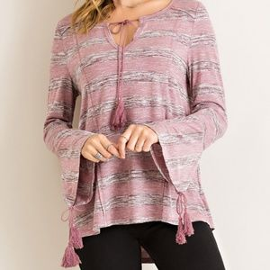 Tops - Striped Princess Line Top